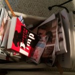 My Reading Pile Is Filled With Books and Magazines.